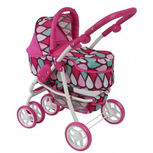 Wózek dla lalek 2w1 Beticco gondola + spacerówka