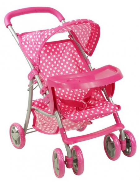 Wózek dla lalek Beticco spacerowy z tacką
